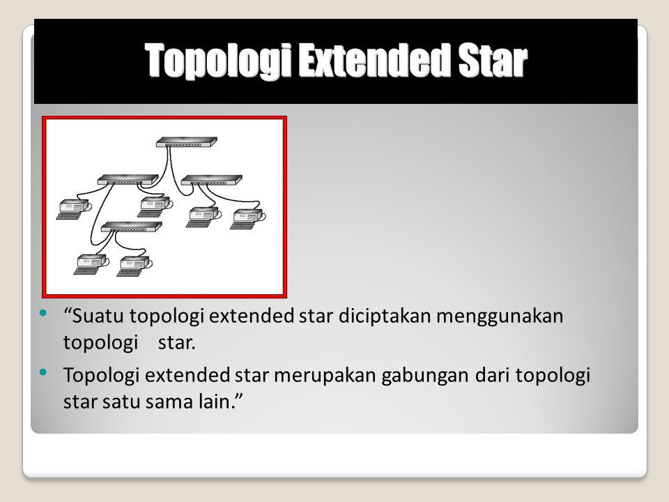 Suatu topologi extended star diciptakan menggunakan topologi star.