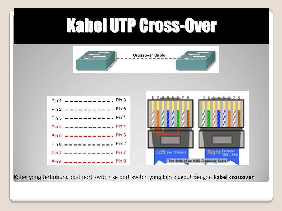 Kabel yang terhubung dari port switch ke port switch yang lain disebut dengan kabel crossover