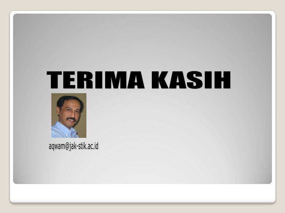 TERIMA KASIH aqwam@jak-stik.ac.id