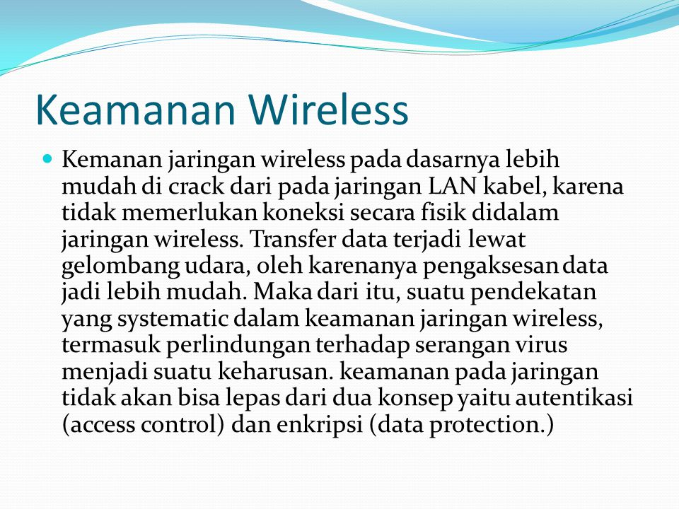 Keamanan Wireless