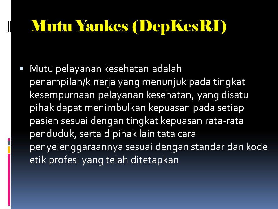 Mutu Yankes (DepKesRI)
