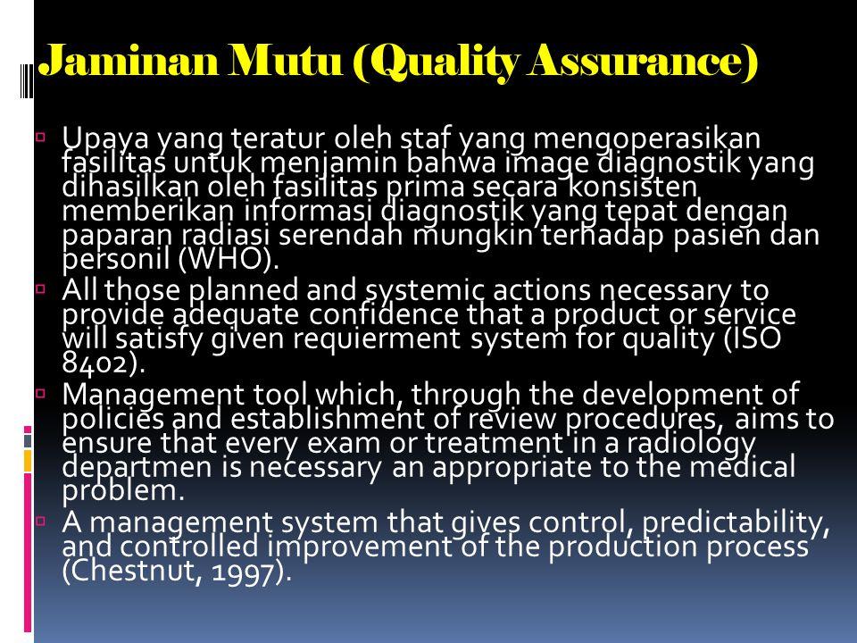 Jaminan Mutu (Quality Assurance)