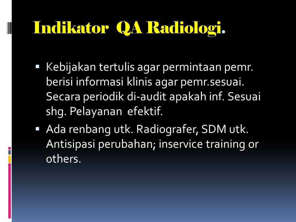 Indikator QA Radiologi.