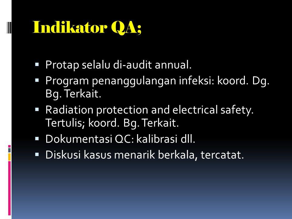 Indikator QA; Protap selalu di-audit annual.