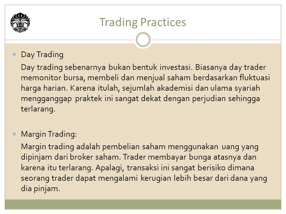Trading Practices Day Trading