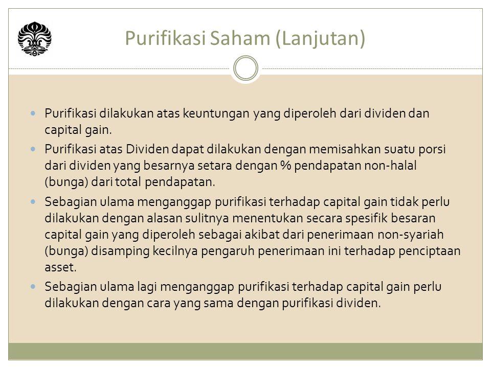 Purifikasi Saham (Lanjutan)