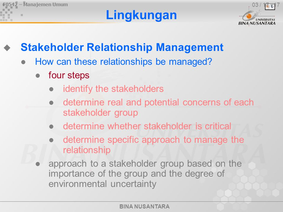 stakeholders relationship with each other