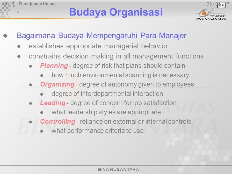 Budaya Organisasi Bagaimana Budaya Mempengaruhi Para Manajer