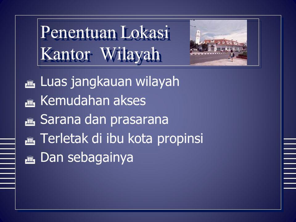 Penentuan Lokasi Kantor Wilayah
