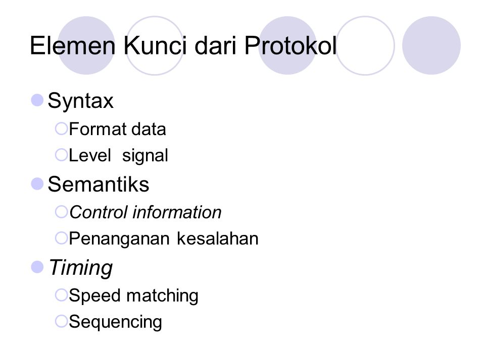 Elemen Kunci dari Protokol