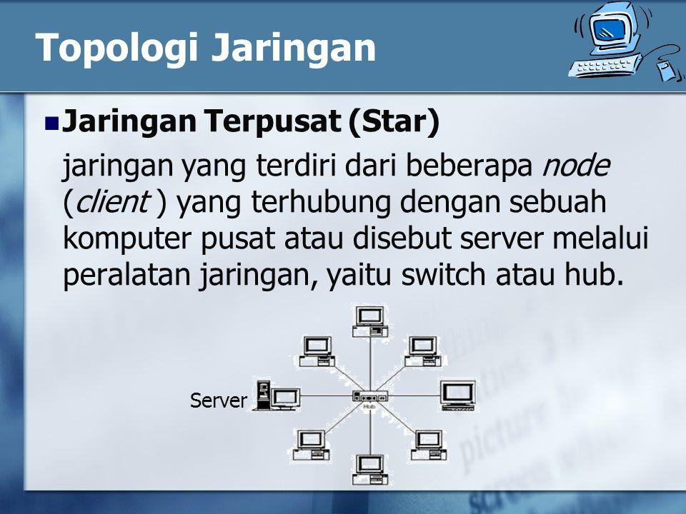 Topologi Jaringan Jaringan Terpusat (Star)