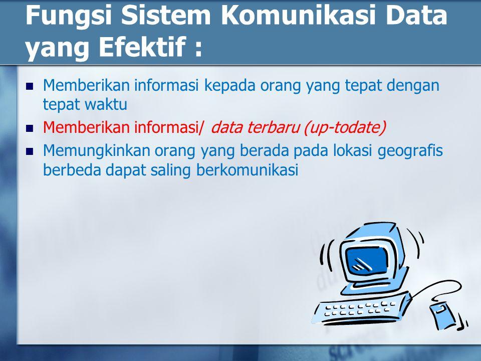 Fungsi Sistem Komunikasi Data yang Efektif :
