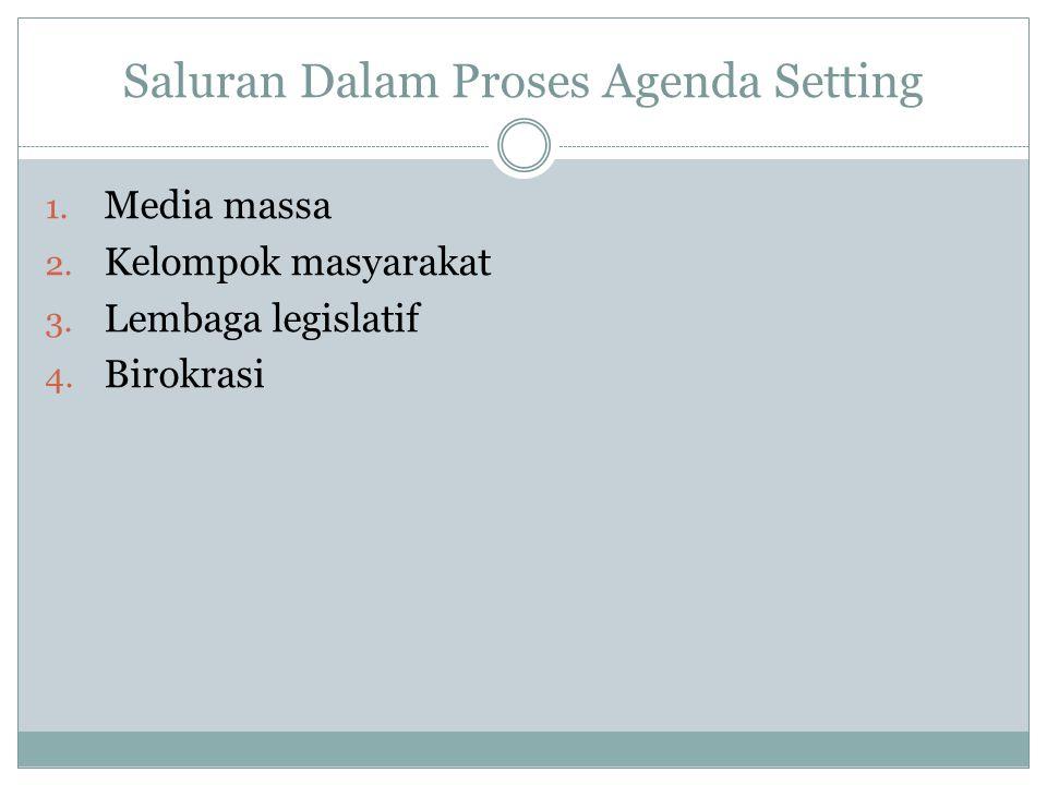 Saluran Dalam Proses Agenda Setting