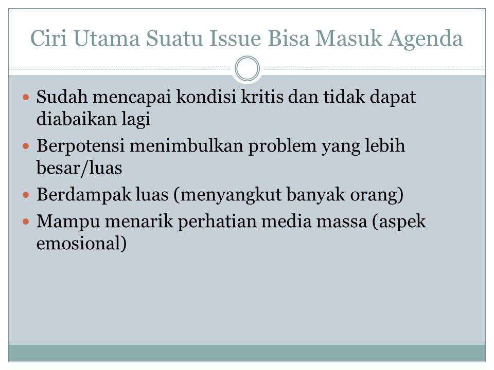 Ciri Utama Suatu Issue Bisa Masuk Agenda