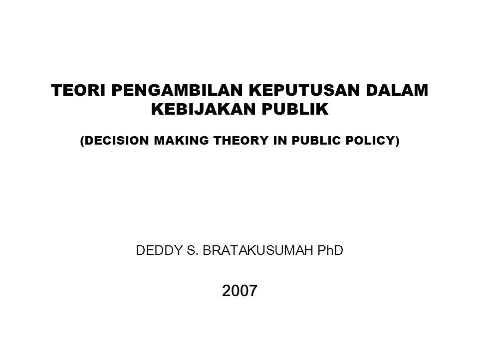 DEDDY S. BRATAKUSUMAH PhD 2007