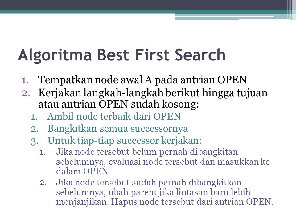 Algoritma Best First Search
