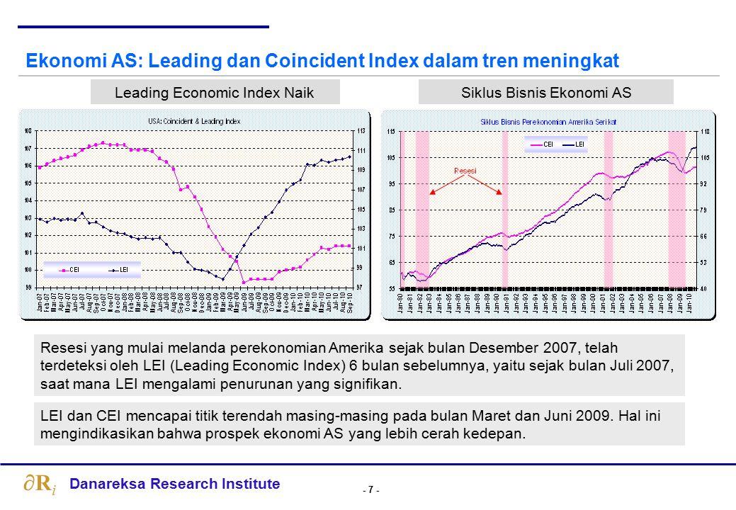 Ekonomi AS: Peluang double dip sangat kecil, tapi cenderung flat