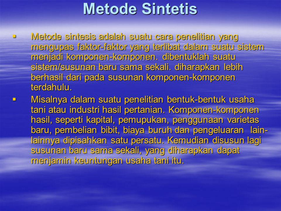 Metode Sintetis
