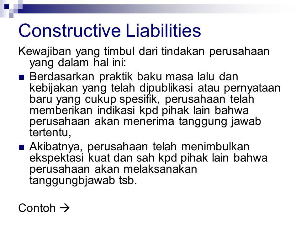 Constructive Liabilities