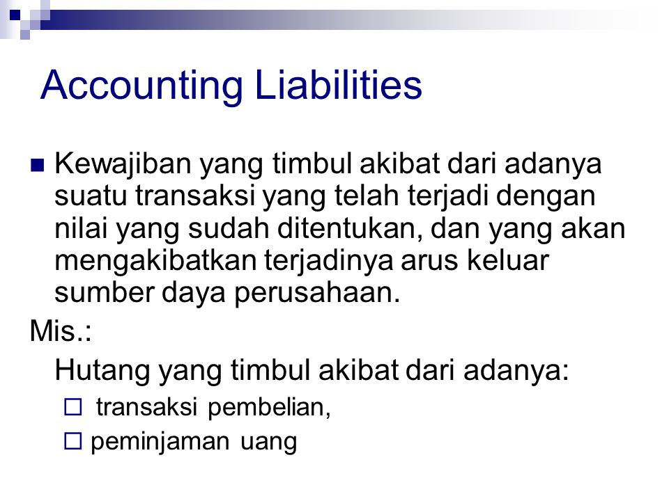 Accounting Liabilities