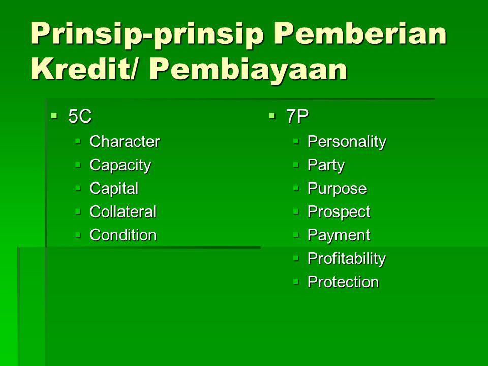 Prinsip-prinsip Pemberian Kredit/ Pembiayaan