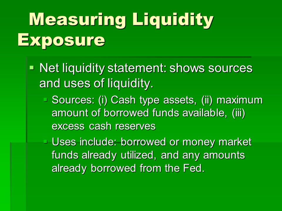 Measuring Liquidity Exposure