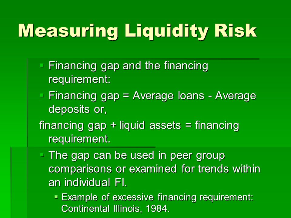 Measuring Liquidity Risk