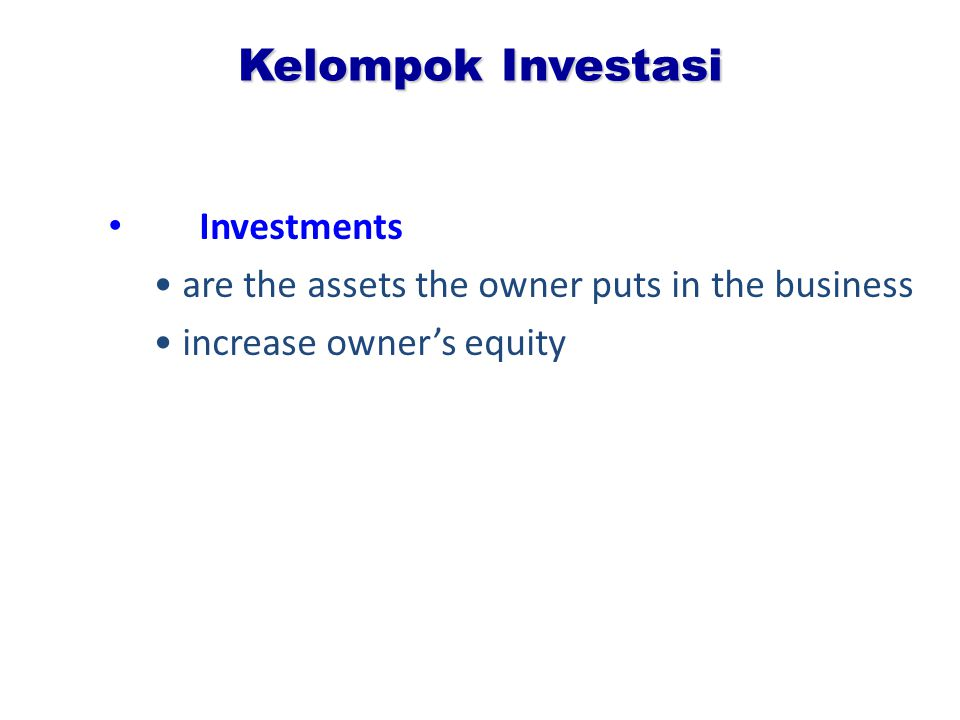 Kelompok Investasi Investments
