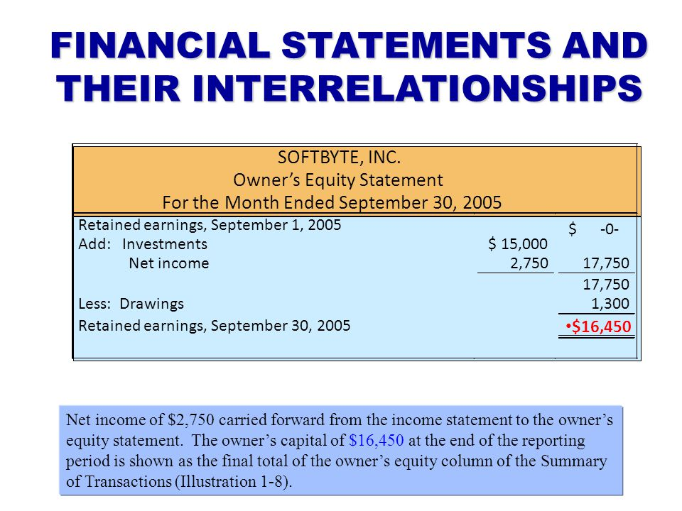 FINANCIAL STATEMENTS AND THEIR INTERRELATIONSHIPS