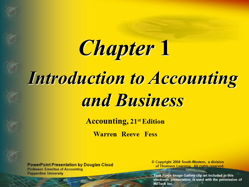 Introduction to Accounting and Business