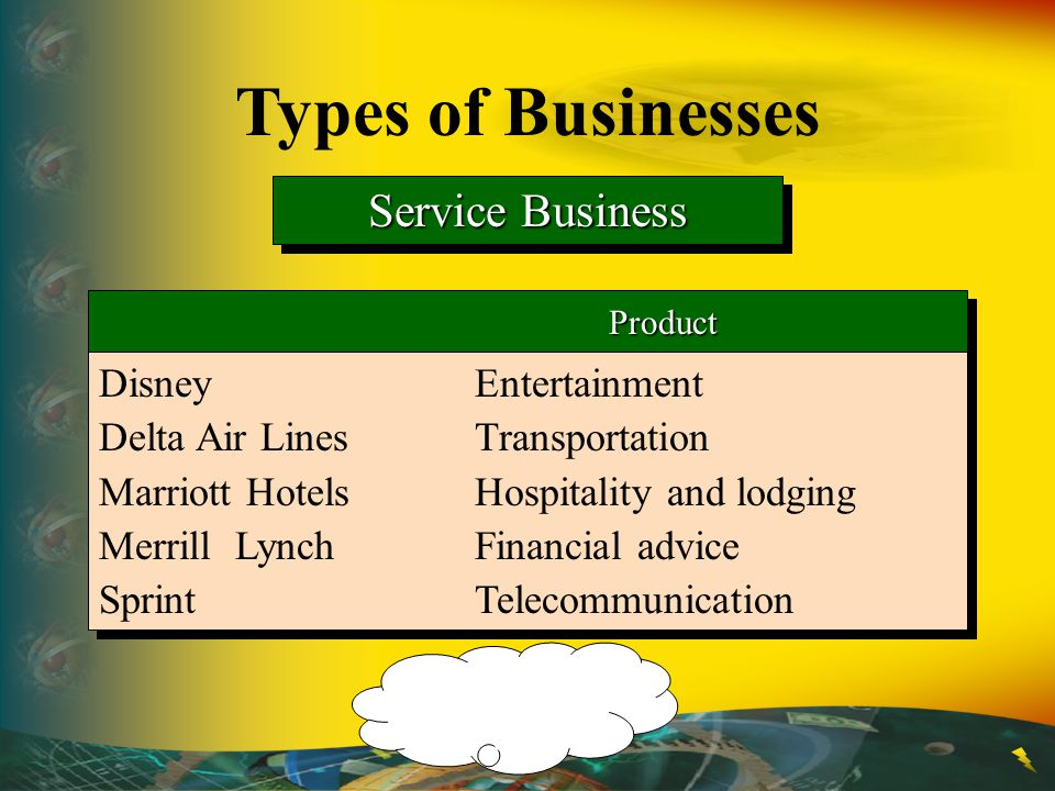 Types of Businesses Service Business Disney Entertainment