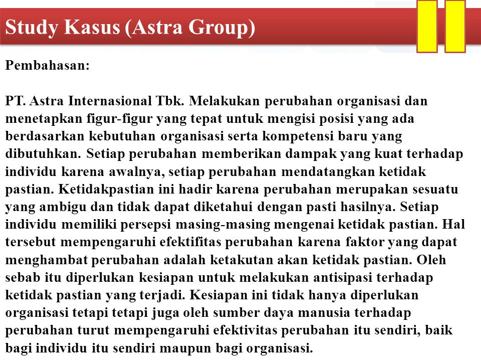 Study Kasus (Astra Group)