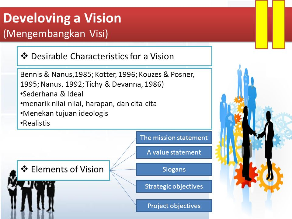 Develoving a Vision (Mengembangkan Visi)