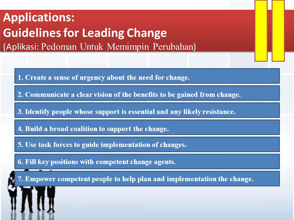 Guidelines for Leading Change