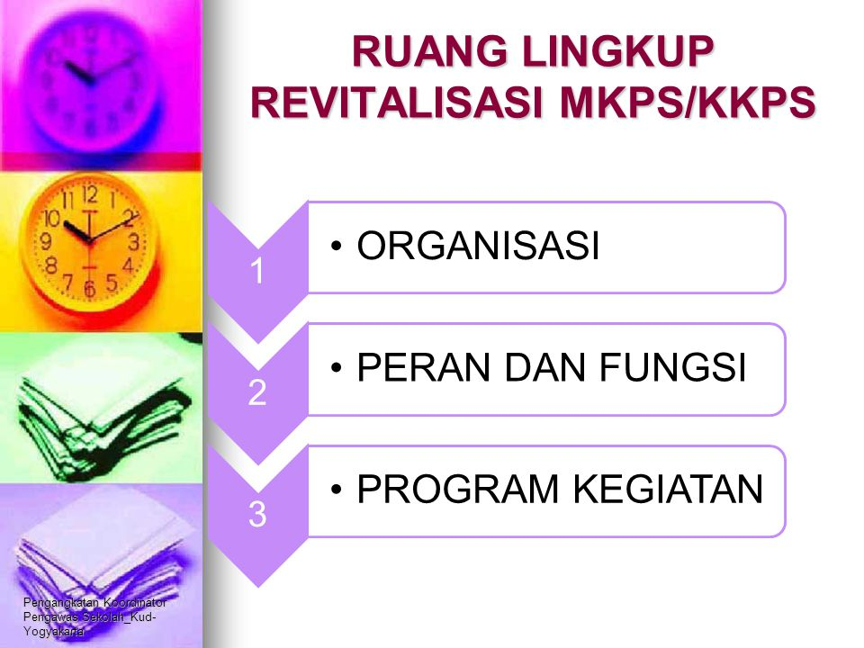 RUANG LINGKUP REVITALISASI MKPS/KKPS