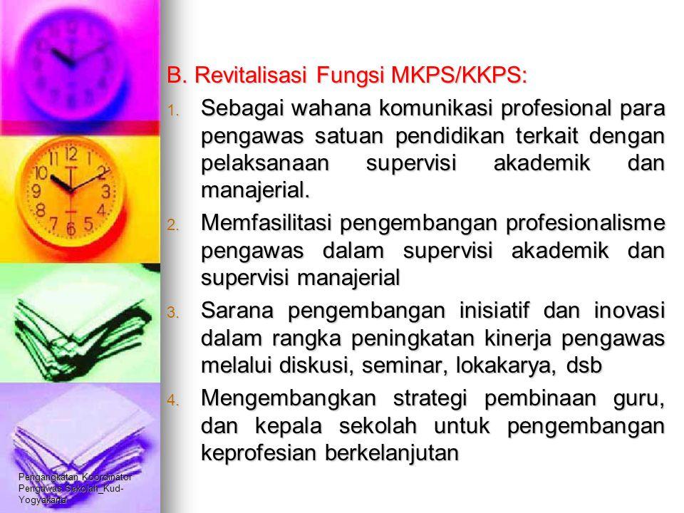 B. Revitalisasi Fungsi MKPS/KKPS:
