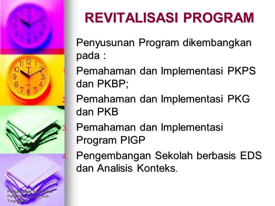REVITALISASI PROGRAM Penyusunan Program dikembangkan pada :