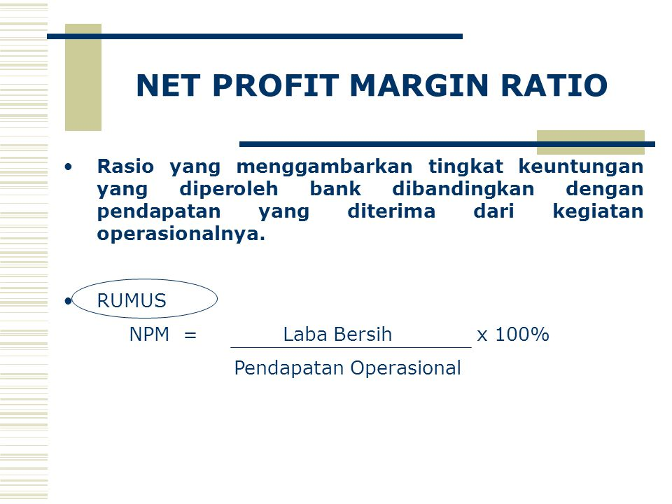 NET PROFIT MARGIN RATIO