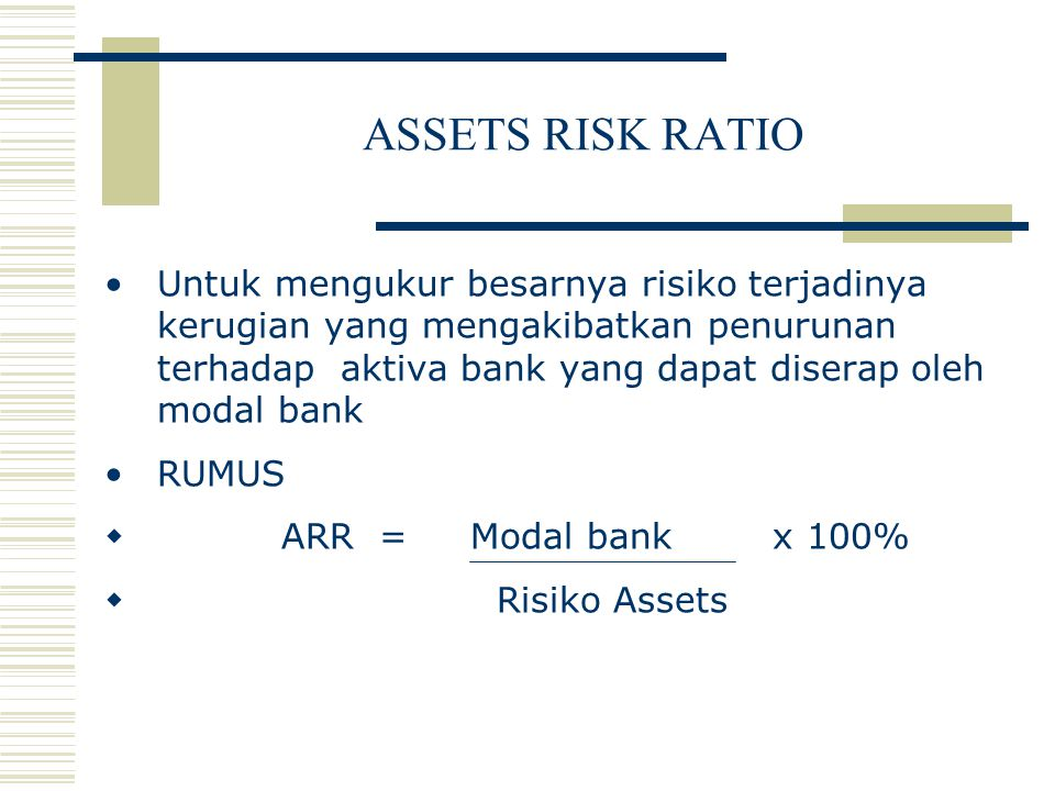 ASSETS RISK RATIO