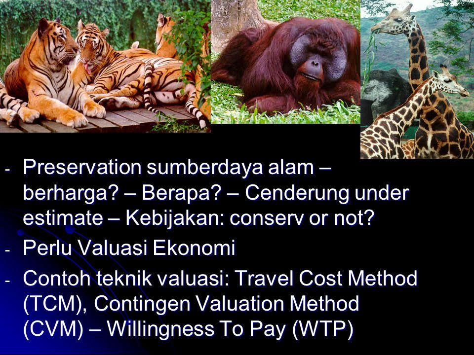 Preservation sumberdaya alam – berharga. – Berapa