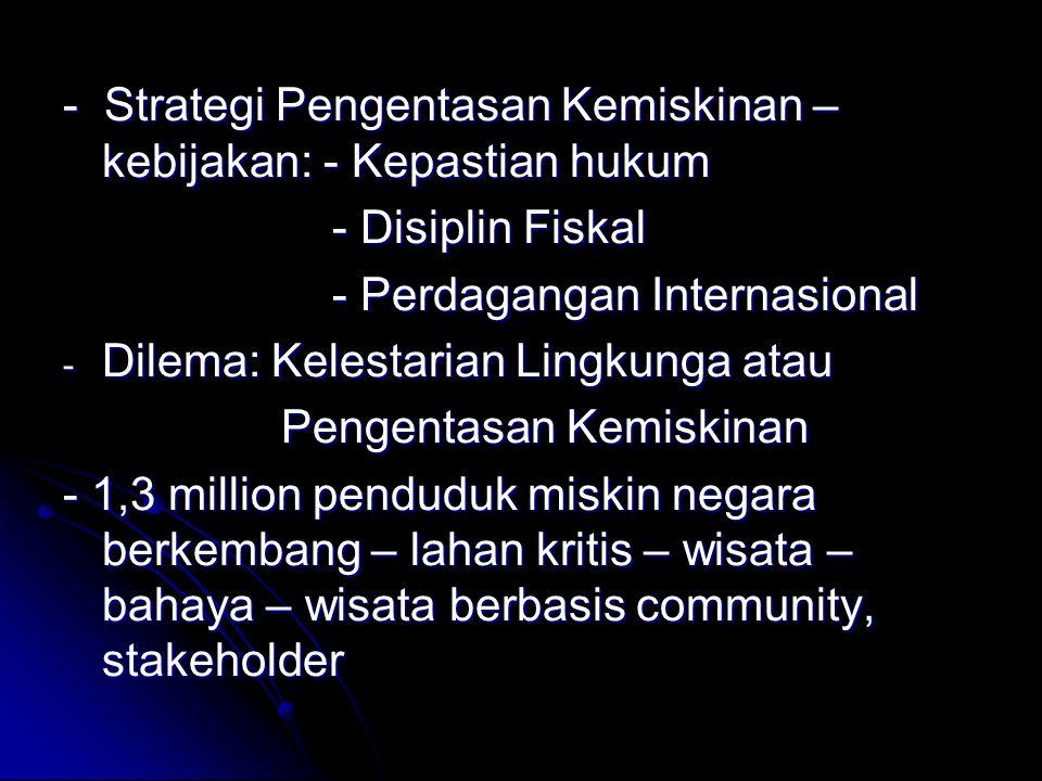 - Strategi Pengentasan Kemiskinan – kebijakan: - Kepastian hukum