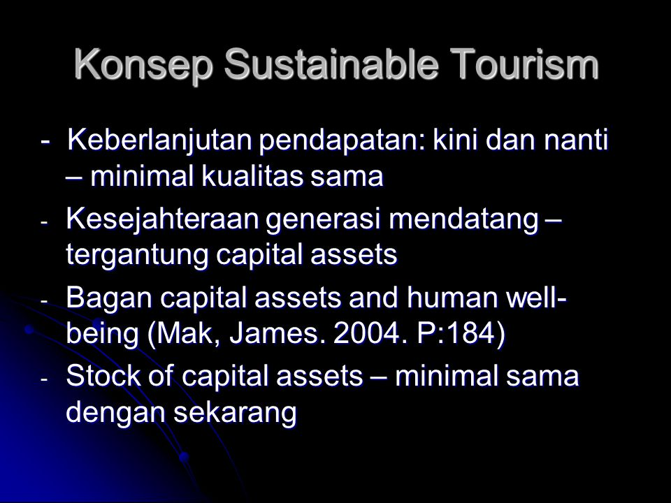 Konsep Sustainable Tourism