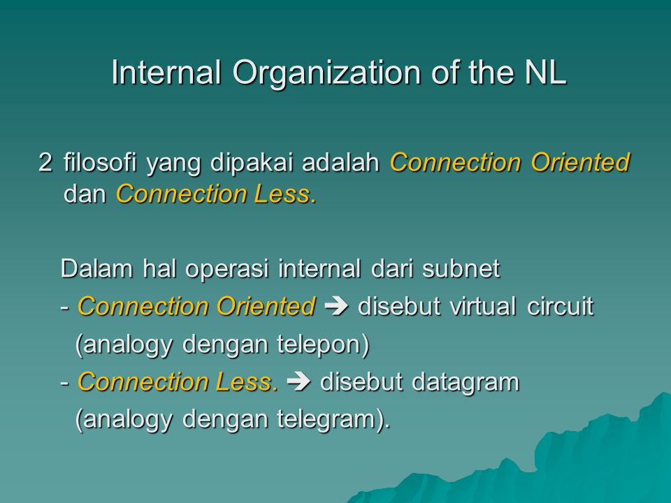 Internal Organization of the NL