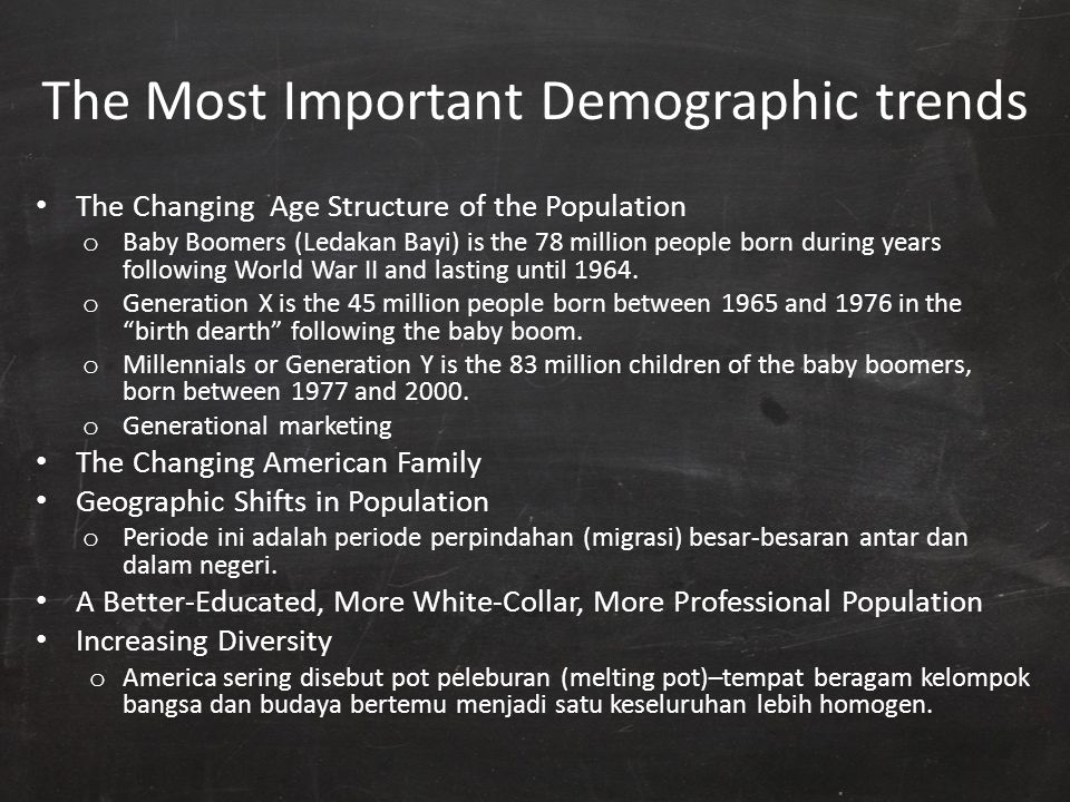 The Most Important Demographic trends