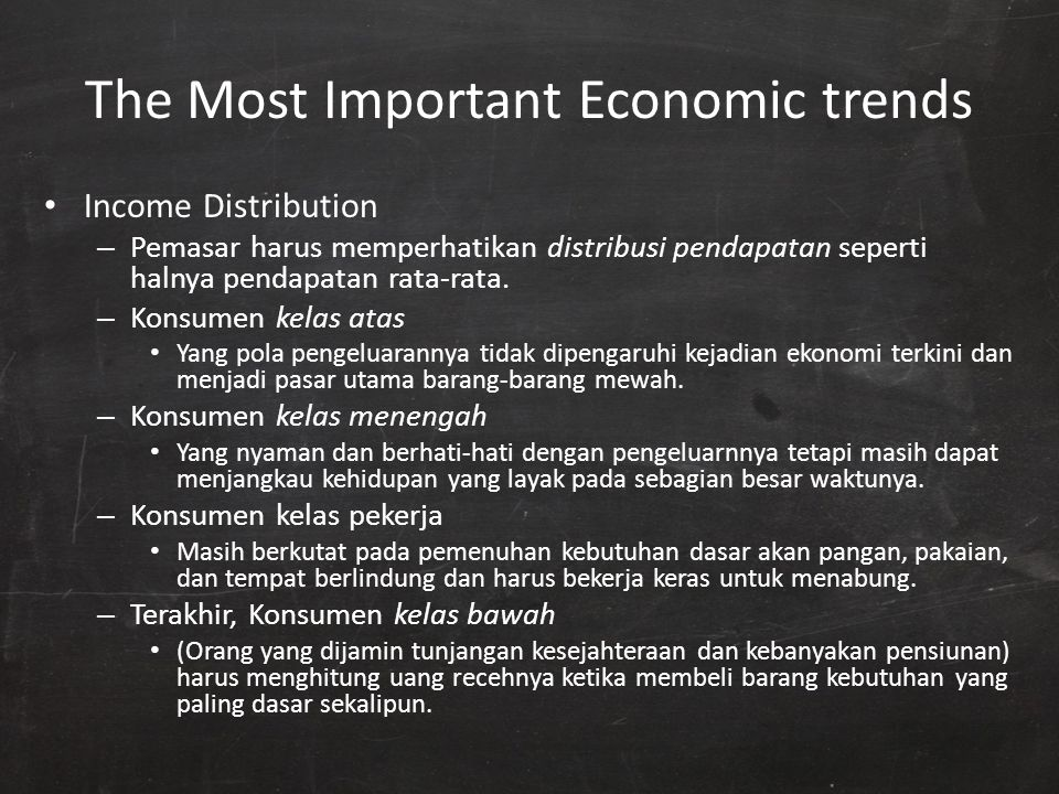 The Most Important Economic trends