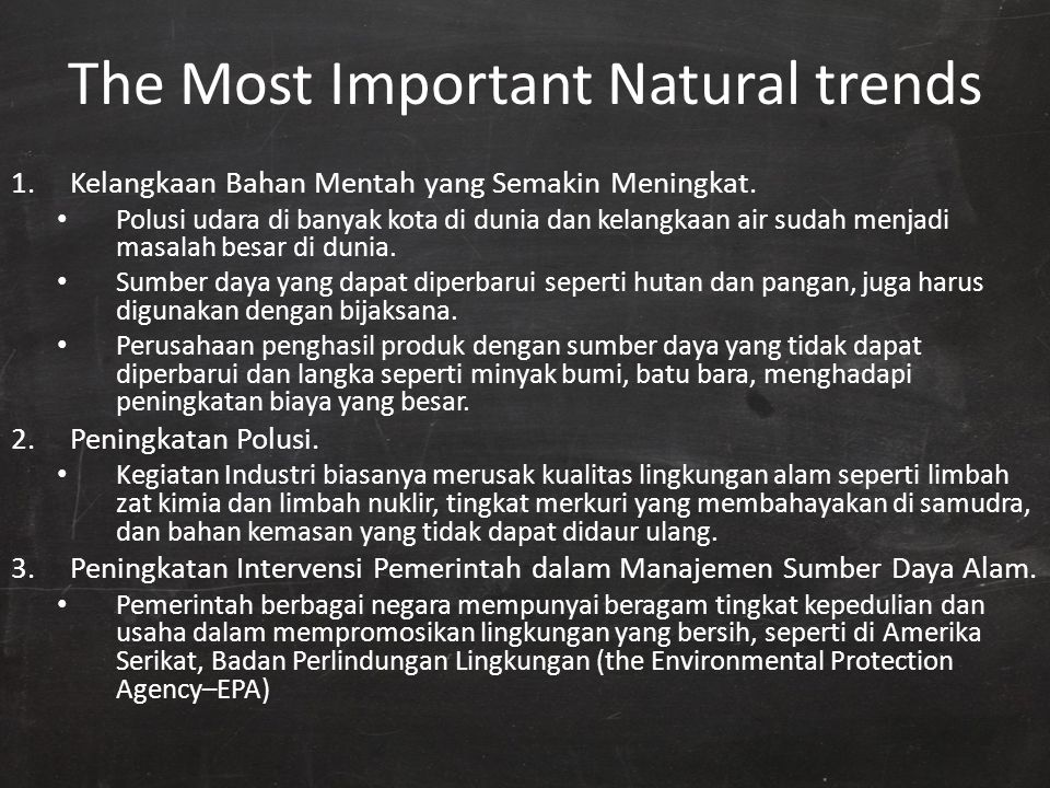 The Most Important Natural trends