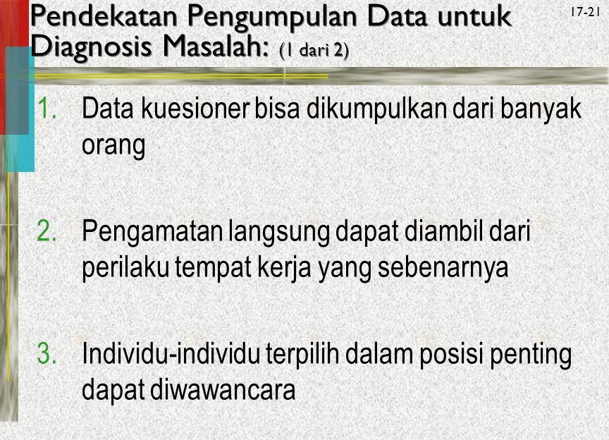 Pendekatan Pengumpulan Data untuk Diagnosis Masalah: (1 dari 2)
