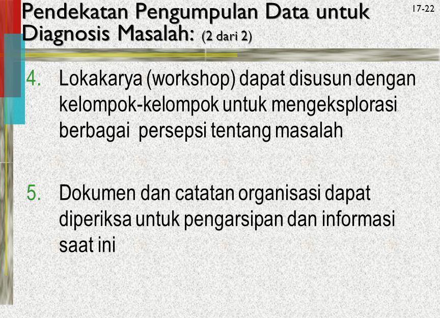 Pendekatan Pengumpulan Data untuk Diagnosis Masalah: (2 dari 2)