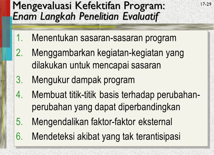 Mengevaluasi Kefektifan Program: Enam Langkah Penelitian Evaluatif