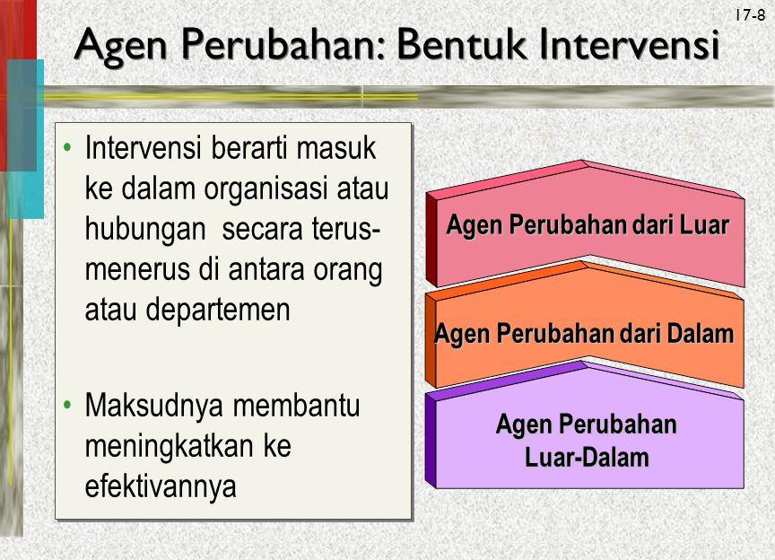 Agen Perubahan: Bentuk Intervensi